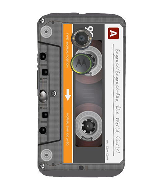 EPICCASE Audio Cassete Back Case Cover for Moto X2