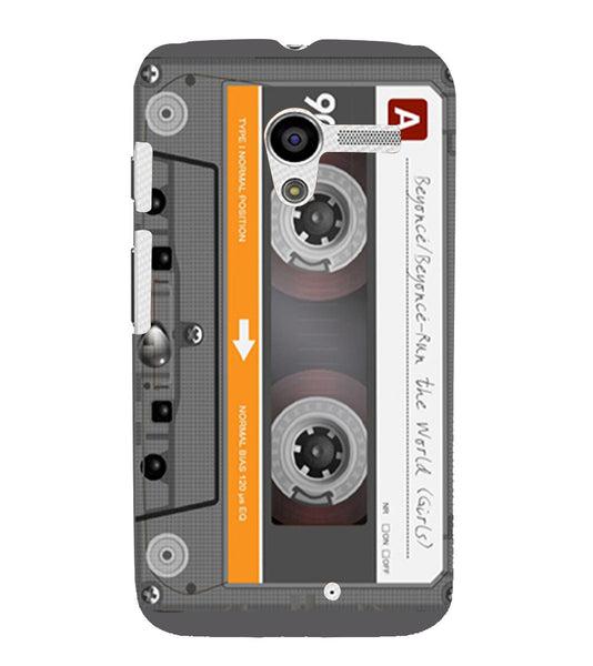 EPICCASE Audio Cassete Back Case Cover for Moto X