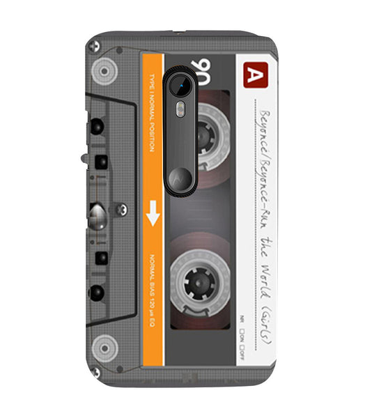 EPICCASE Audio Cassete Back Case Cover for Moto X Force