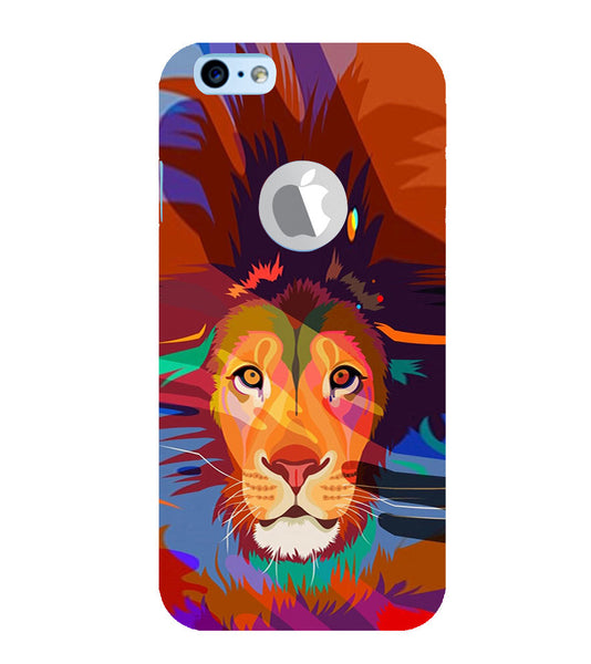 EPICCASE Colorful Lion Face Back Case Cover for Apple iPhone 6plus/6splus