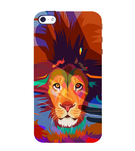 EPICCASE Colorful Lion Face Back Case Cover for Apple iPhone 4