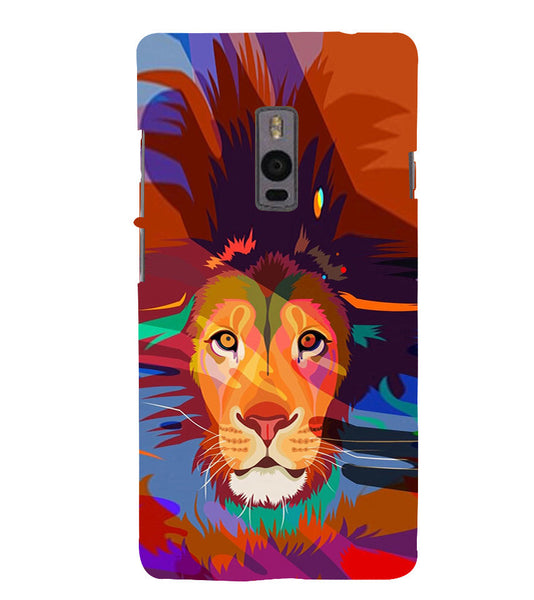 EPICCASE Colorful Lion Face Back Case Cover for Oneplus Two