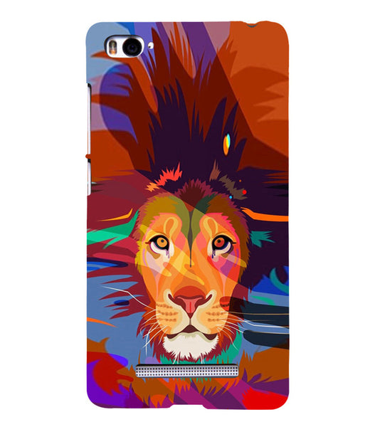 EPICCASE Colorful Lion Face Back Case Cover for Xiaomi Redmi Mi4i