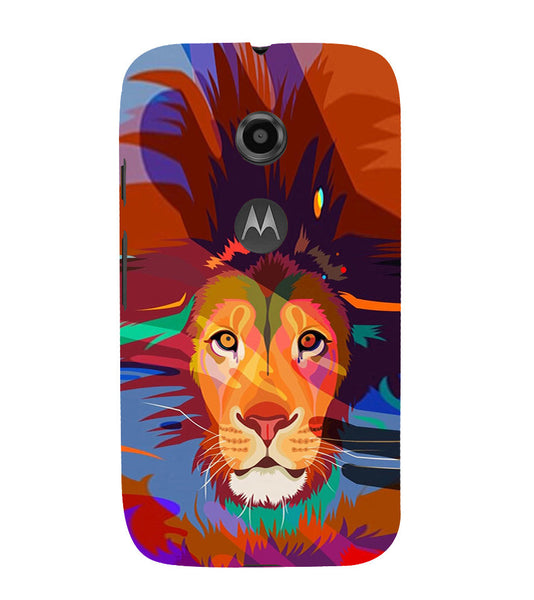 EPICCASE Colorful Lion Face Back Case Cover for Moto E2