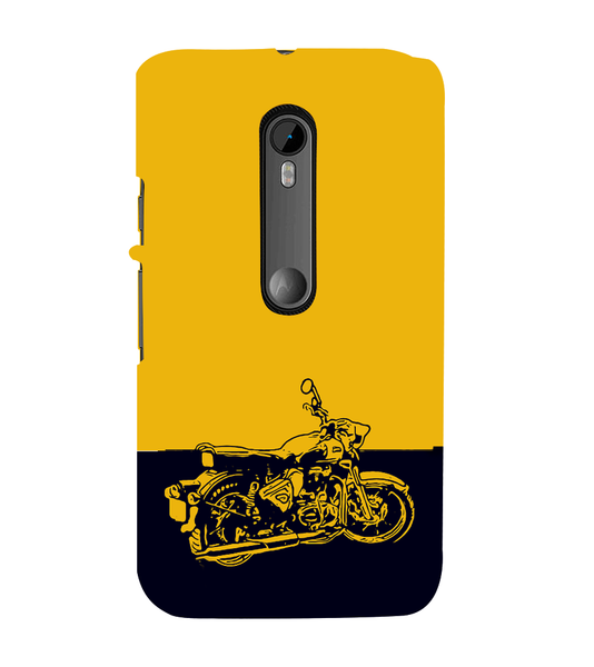 EPICCASE Trendy Bike Back Case Cover for Moto X Force