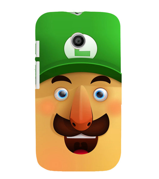 EPICCASE Mario Cartoon Face Back Case Cover for Moto E