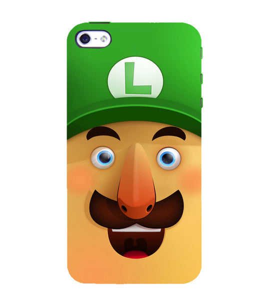 EPICCASE Mario Cartoon Face Back Case Cover for Apple iPhone 4