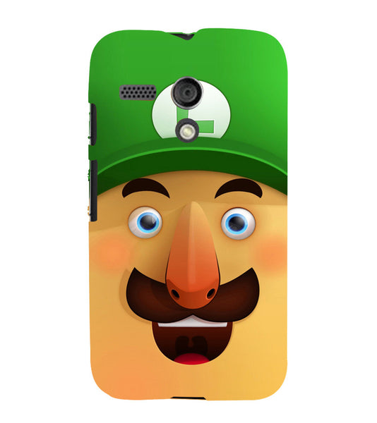 EPICCASE Mario Cartoon Face Back Case Cover for Moto G