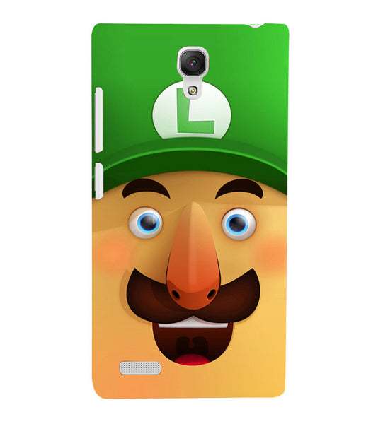 EPICCASE Mario Cartoon Face Back Case Cover for Xiaomi Redmi Note
