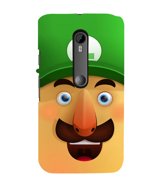EPICCASE Mario Cartoon Face Back Case Cover for Moto X Force