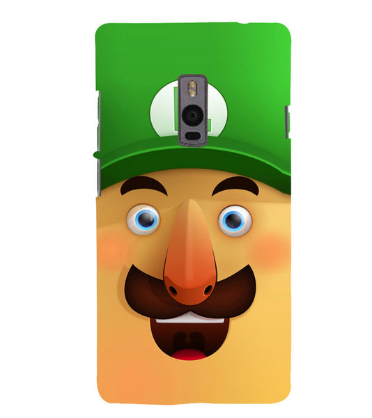 EPICCASE Mario Cartoon Face Back Case Cover for Oneplus Two