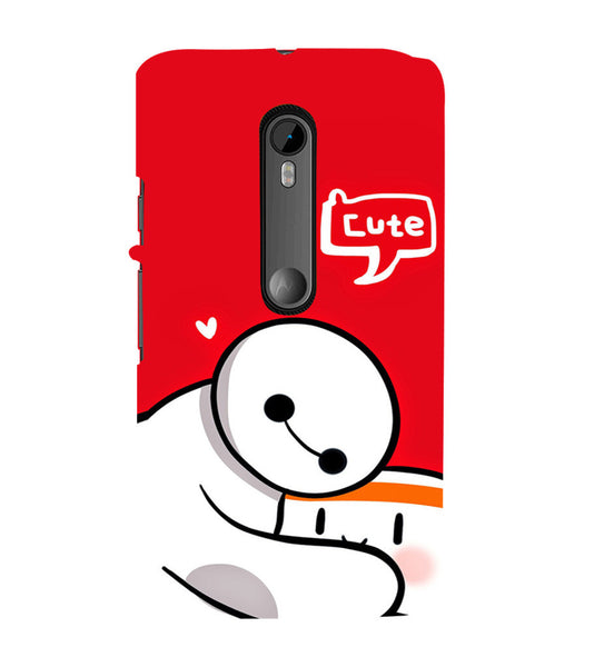 EPICCASE Cute Teddy cover Back Case Cover for Moto X Force