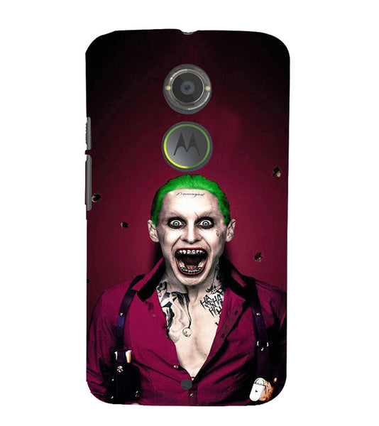 EPICCASE Scary Man with Greem hair Back Case Cover for Moto X2