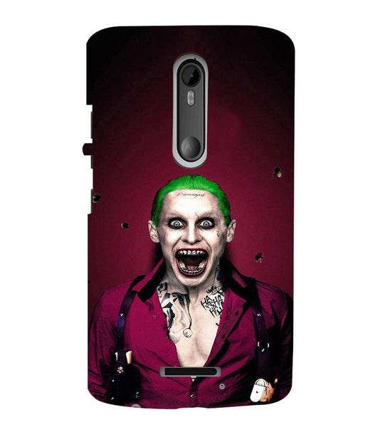 EPICCASE Scary Man with Greem hair Back Case Cover for Moto X3
