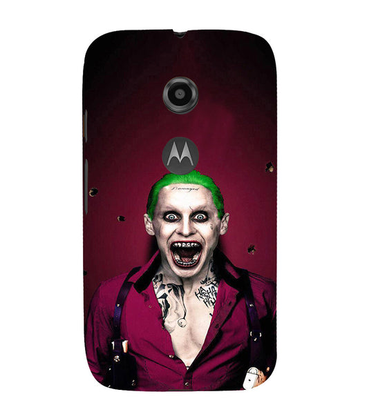 EPICCASE Scary Man with Greem hair Back Case Cover for Moto E2