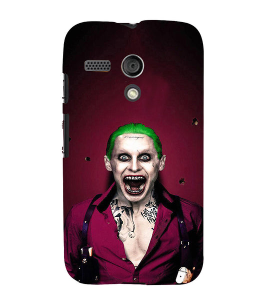 EPICCASE Scary Man with Greem hair Back Case Cover for Moto G