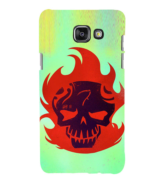 EPICCASE Burning Skull Back Case Cover for Samsung A7 2016