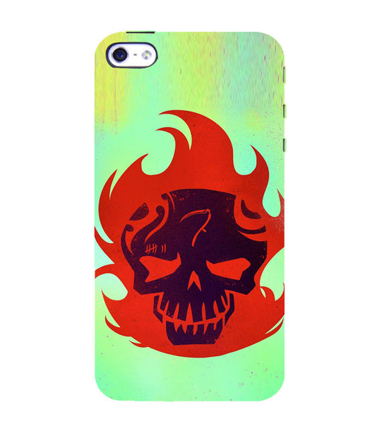 EPICCASE Burning Skull Back Case Cover for Apple iPhone 5/5s