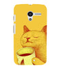 EPICCASE peaceful cat Back Case Cover for Moto X