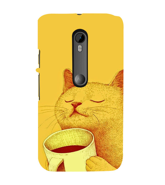 EPICCASE peaceful cat Back Case Cover for Moto X Play
