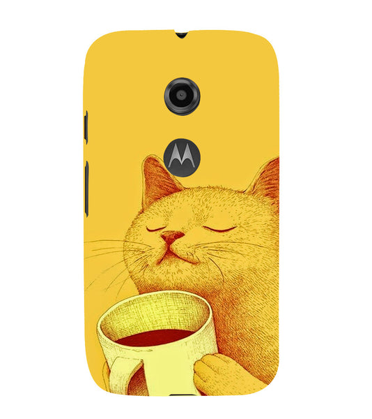 EPICCASE peaceful cat Back Case Cover for Moto E2