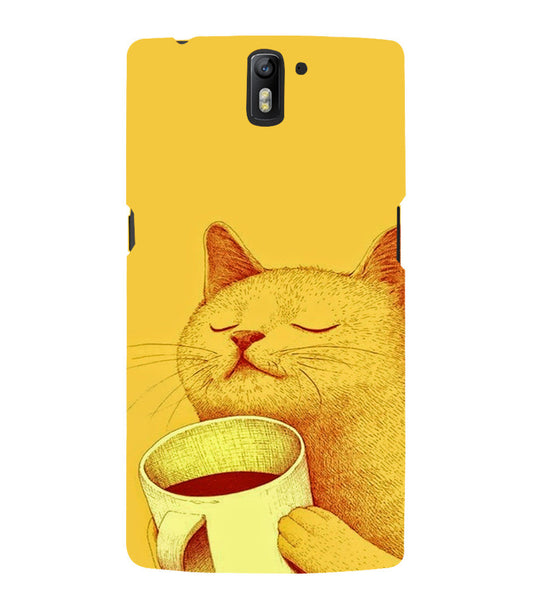 EPICCASE peaceful cat Back Case Cover for Oneplus One