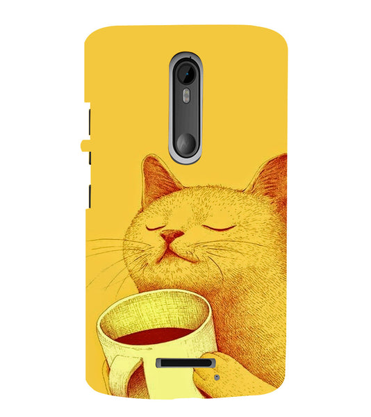 EPICCASE peaceful cat Back Case Cover for Moto X3