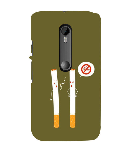 EPICCASE No Smoking  Back Case Cover for Moto X Force