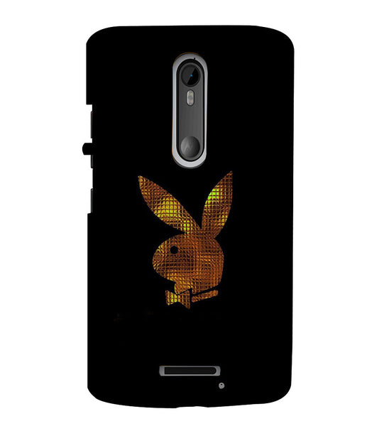 EPICCASE Gold Play Boy Back Case Cover for Moto X3