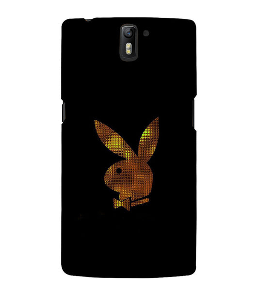 EPICCASE Gold Play Boy Back Case Cover for Oneplus One