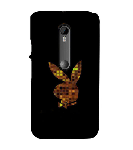 EPICCASE Gold Play Boy Back Case Cover for Moto X Play
