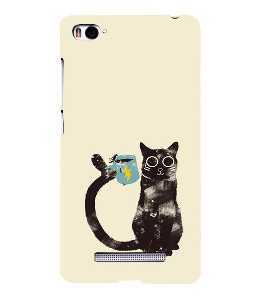 EPICCASE cat with cup Back Case Cover for Xiaomi Redmi Mi4i