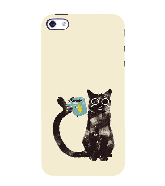 EPICCASE cat with cup Back Case Cover for Apple iPhone 4