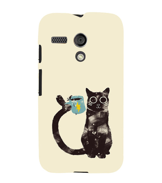 EPICCASE cat with cup Back Case Cover for Moto G