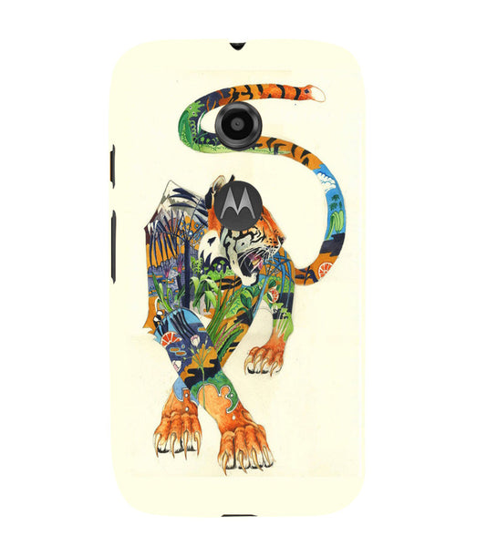 EPICCASE art tiger Back Case Cover for Moto E2