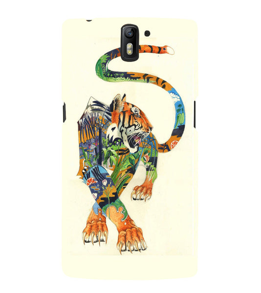 EPICCASE art tiger Back Case Cover for Oneplus One
