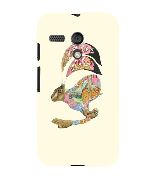 EPICCASE Artistic rabbit Back Case Cover for Moto G