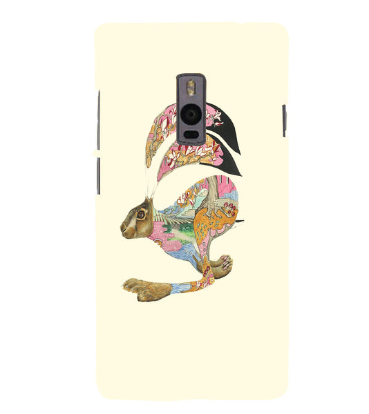 EPICCASE Artistic rabbit Back Case Cover for Oneplus Two