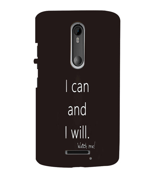 EPICCASE I can and I will Back Case Cover for Moto X3