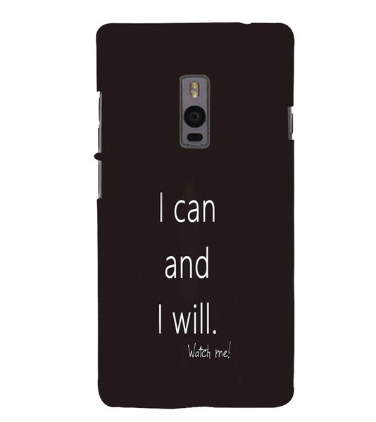 EPICCASE I can and I will Back Case Cover for Oneplus Two