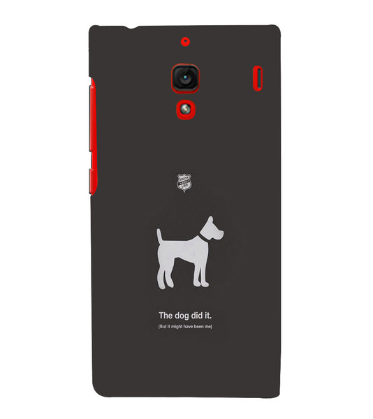 EPICCASE The Dog did It Back Case Cover for Xiaomi Redmi 1s