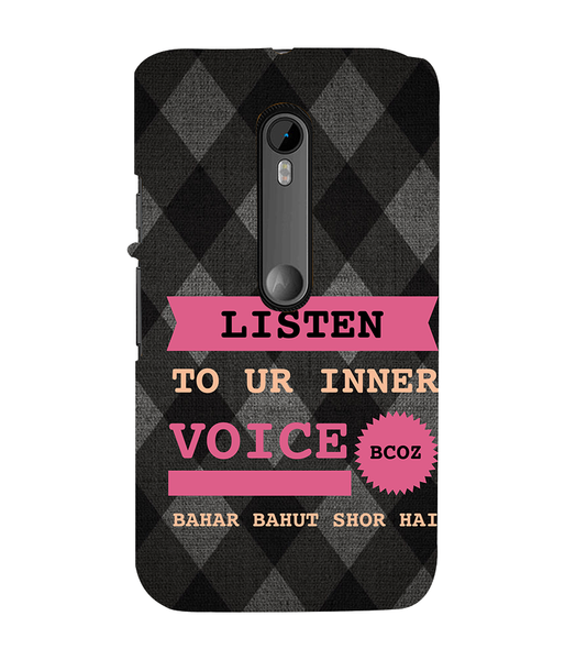 EPICCASE listen to your inner voice Back Case Cover for Moto X Play