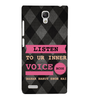 EPICCASE listen to your inner voice Back Case Cover for Xiaomi Redmi Note
