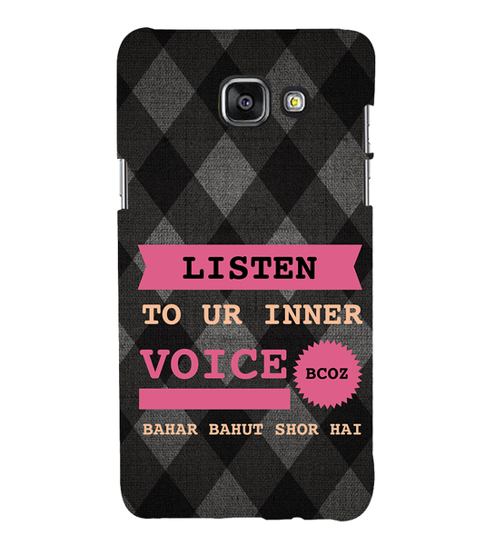 EPICCASE listen to your inner voice Back Case Cover for Samsung A7 2016