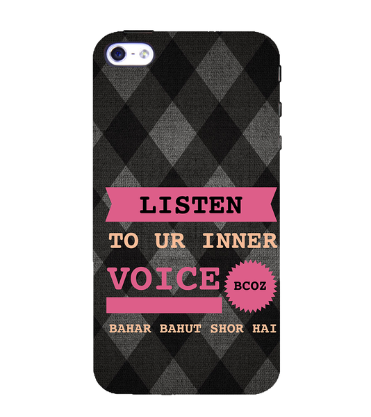 EPICCASE listen to your inner voice Back Case Cover for Apple iPhone 4