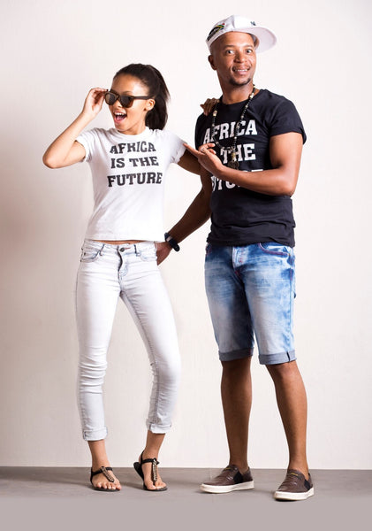 Africa is the Future adult t-shirts (black)