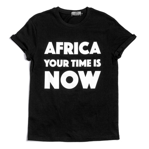 AFRICA your time is NOW adult t-shirt (black)