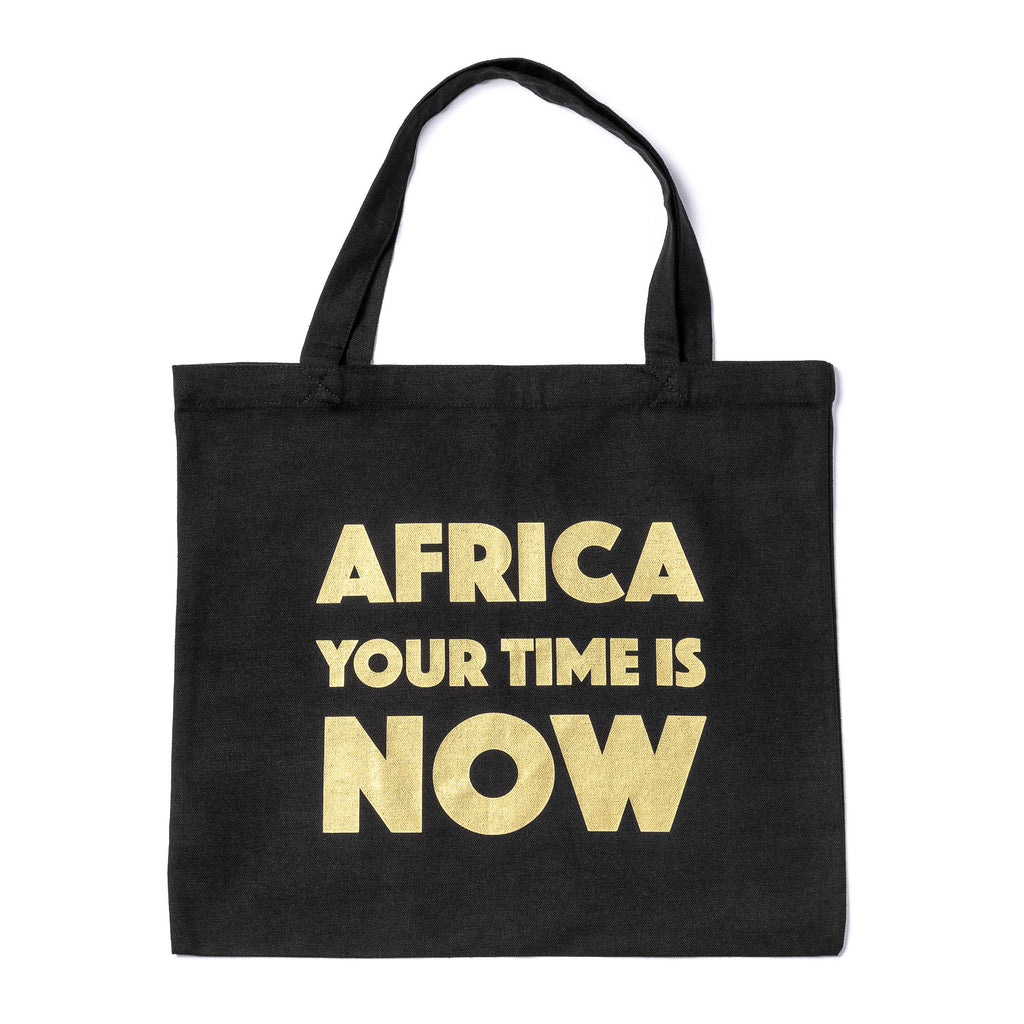 Black Tote bag (gold text)