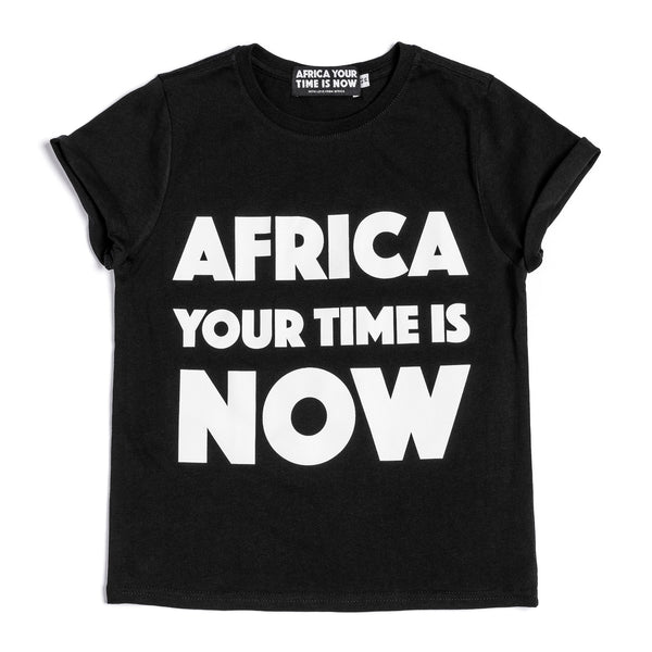 AFRICA your time is NOW kids' t-shirt (black)