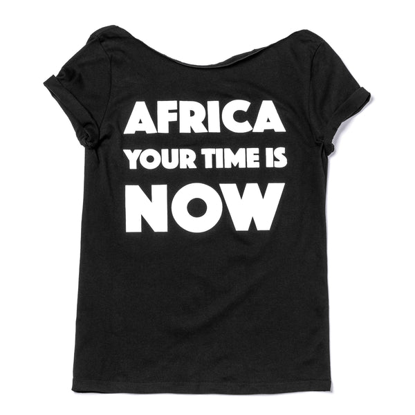 Africa your time is NOW adult t-shirt (black customized)